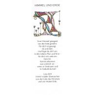 Buchzeichen HIMMEL UND ERDE