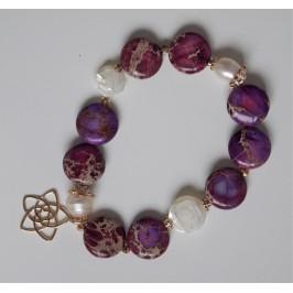 Armband Jaspis mit Venus-Blume
