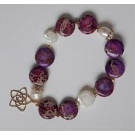 Armband Jaspis mit Venusblume
